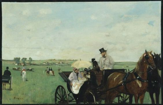 "Edgar Degas ""At the Races in the Countryside."" Museum of Fine Arts, Boston."