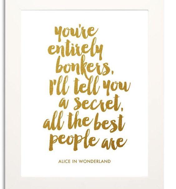 Love Alice in Wonderland! Cute print now in store in framed and unframed versions #aliceinwonderland #bonkers #allthebestpeopleare #shutthefrontdoorstore #stfdnz