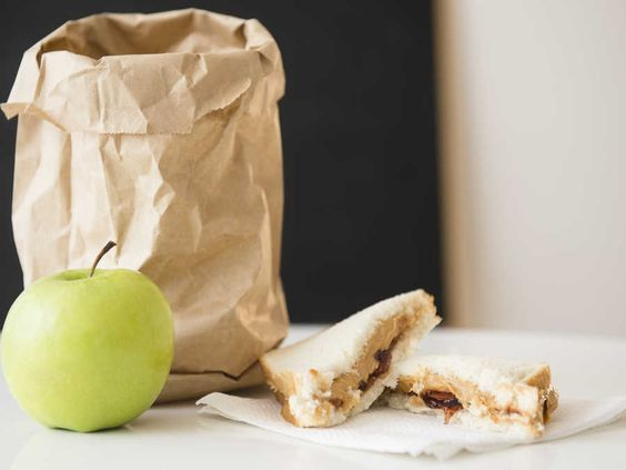 """We all remember our brown bag lunches from school. The possibly mushedPB&J,wrinkled napkin, sliced apples, and maybe (if we were lucky)a bag of chips or a few cookies. We revisited these classic brown bag lunches, but this time we decided to upgrade them beyond plastic baggies and a napkin that reads """"Make good choices, love Mom."""""""