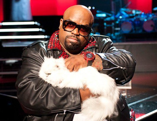 Cee Lo Green has the tiniest arms! They remind me of the T-rex's arms on Toy Story!