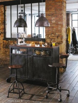 Bar industriel salon pinterest bar - Bar style industriel ...