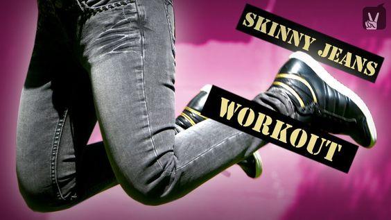 Hol' Dir den sexy Look mit unserem Skinny Jeans Workout bei Happy & Fit!  #skinny #jeans #schlank #knackig #po #topmodel #beine #butt #fun #fashion #style