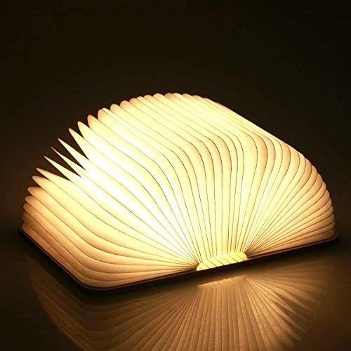 Holzerne Faltende Buch Lampe Magnetisches Led Licht Dekorative Lichter Tabel Book Lamp Lamp Lamp Inspiration