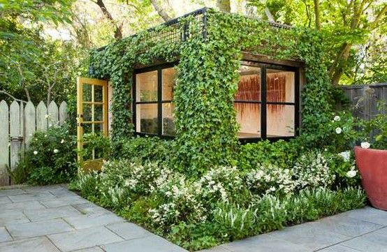 gorgeous garden shed/studio. all that light!