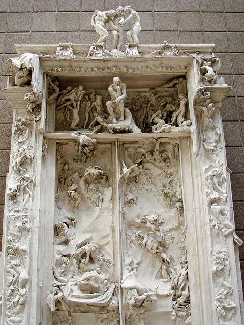 Musée d'Orsay - Auguste Rodin - The Gate of Hell. Paris, France good for fire place surround