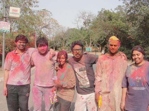 Holi.. in JNU, New Delhi.
