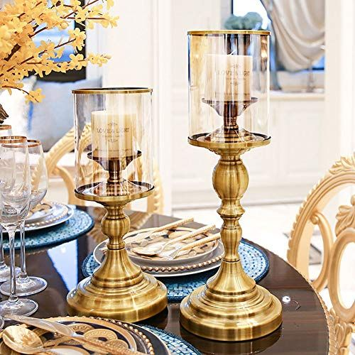 Table Decoration Delicate Embossed Pattern European Vintage Style Candle Holder for Living Room Dining Room Table Pillar Candle Holder