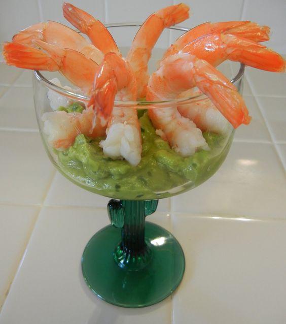 Shelly's Guacamole Shrimp Cocktail