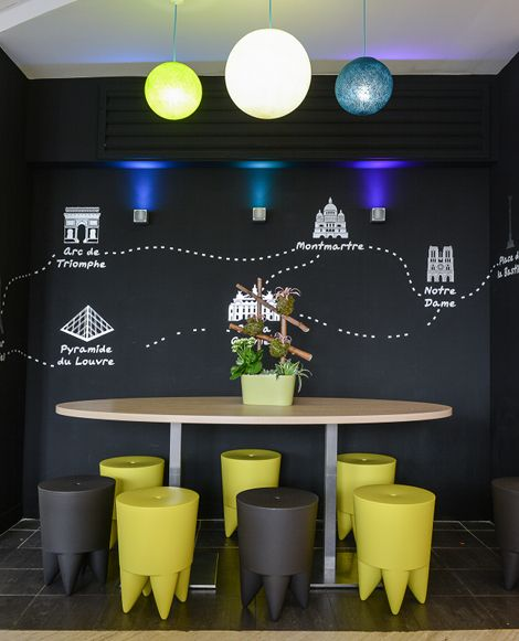 #Graphic design for Ibis Styles Gare de l'Est Chateau Landon by Studio Emma Roux #StudioEmmaRoux / #theplacestobe #paris #stickers © Anthony Cottarel