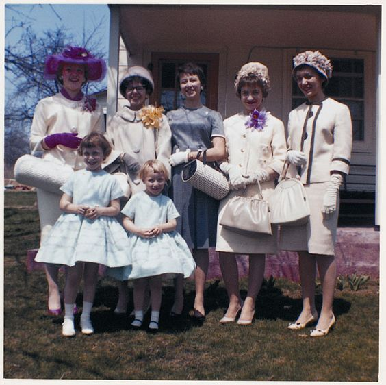 Dressed for Easter church - '60s In the days when we dressed up for church.