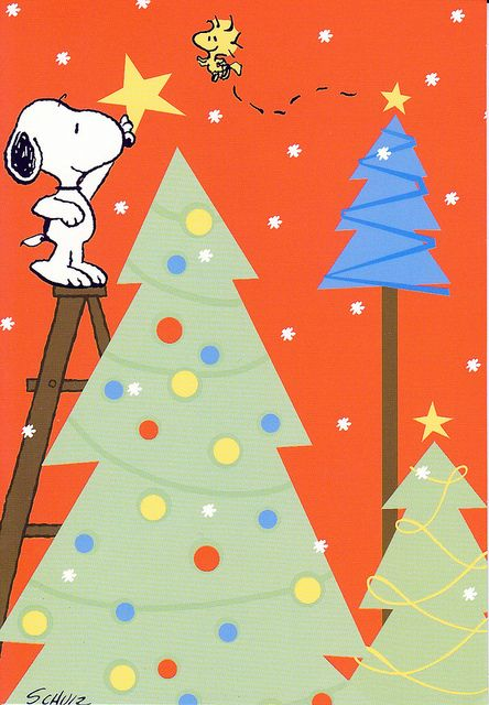 Snoopy Woodstock And Christmas Tree Star On Pinterest