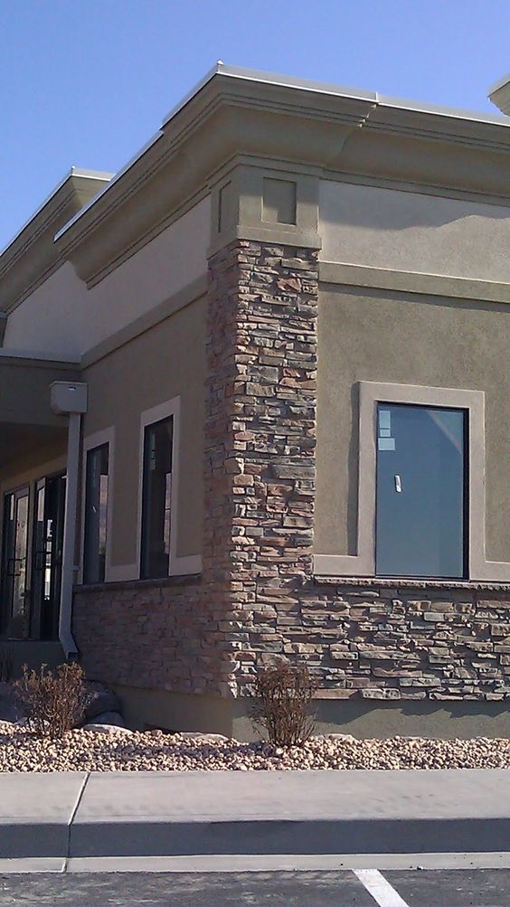 Exterior of stone and stucco offices buildings stucco tech all american dr jolley 39 s office pg - Exterior stone paint model ...