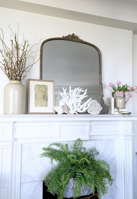 Project Design:  How To Style Your Spring Mantel Two Ways: