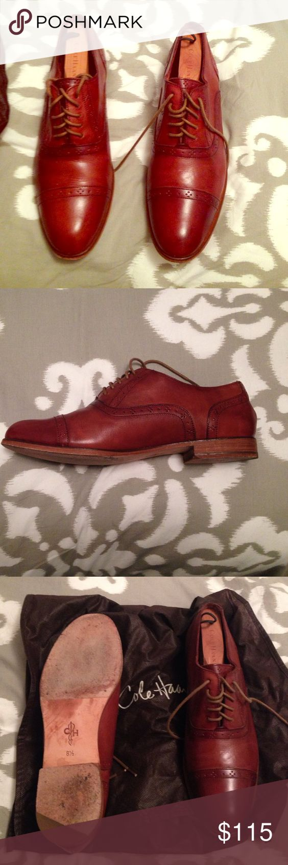 Cole Hann Women's Oxford Leather Shoes Barely been worn lace up Oxford shoes in brown leather. Very elegant for work. Comfortable. Cole Haan Shoes Flats & Loafers