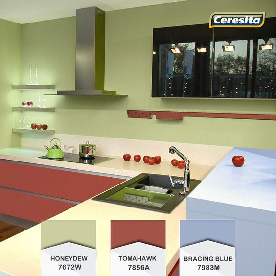 #CeresitaCL #PinturasCeresita #Color #Cocina #Pintura #Decoración #Tendencia #Actual #Hogar #Home #Deco #Estilo *Códigos de color sólo para uso referencial. Los colores podrían lucir diferentes, según calibrado de su monitor.