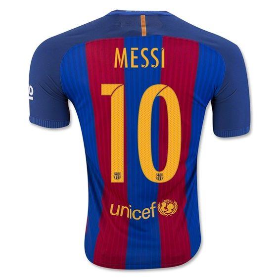 Lionel Messi Home Soccer Jersey 16/17 Barcelona #10