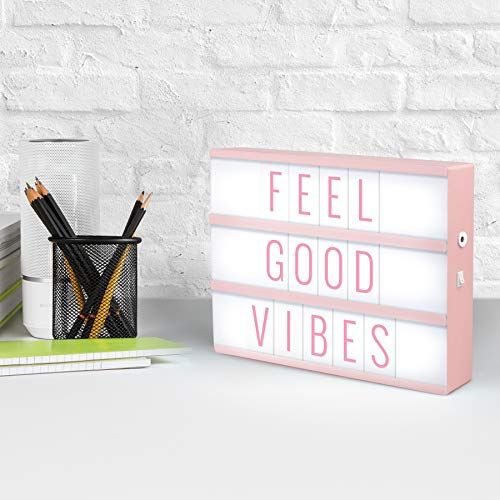 Merkury Innovations Light Up Box Led Message Letter Board Sign With 72 Letters And Symbols Movie Marquee Lightbox Aes Light Box Light Box Quotes Light Up Box