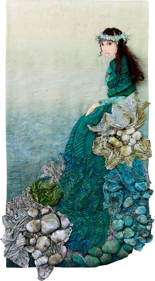 NW Quilting Expo 2011 - Judge's Choice: Girl With a Pearl by the Sea by by Sandy Winfree Nwquiltingexpo.com: