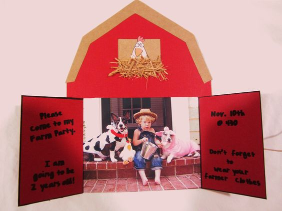Farm Party Invites!