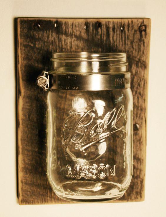 Mason Jar Wall Decor Pinterest : Jars shabby chic and wall decor on
