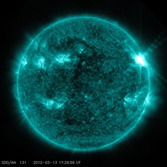 On March 13, 2012, the sun erupted with an M7.9-class flare that peaked at 1:41 p.m. EDT. This flare was from the same active region, No. 1429, that has been producing flares and coronal mass ejections all week. That region has been moving across the face of the sun since March 2, and will soon rotate out of Earth view.: Solar Storms, Final Frontier, Flares Nasa S, Sunspot Pictures, Nasa S Solar, Flares Sun, Solar Flares