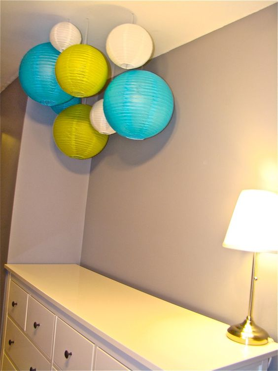 Hanging paper lanterns (also lists where to buy for cheap!)