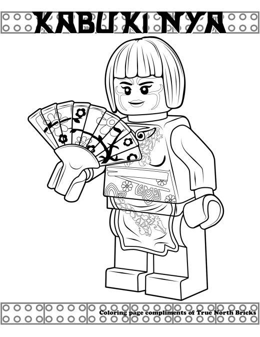 Coloring Page Kabuki Nya True North Bricks Lego Coloring Pages Ninjago Coloring Pages Coloring Pages