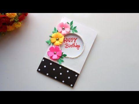 Beautiful Handmade Birthday Card Idea Diy Greeting Cards For Birthday Youtube Card Design Handmade Handmade Birthday Cards Happy Birthday Cards Handmade