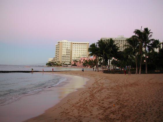 Waikiki Beach early morning
