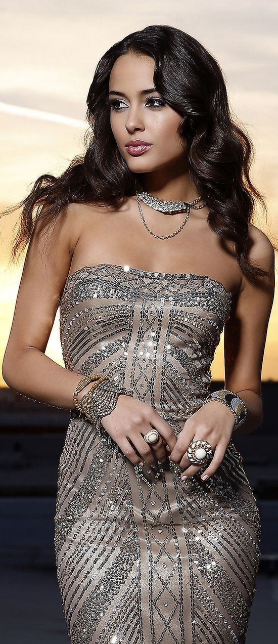 Gorgeous Dress and Jewelry.