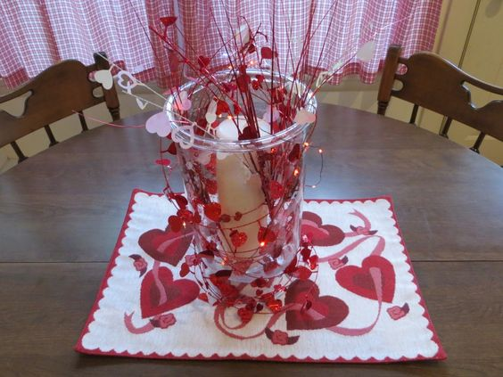 Simple Valentine Table Decor | ... Decorations, Inexpensive Valentine Table Decorations, Valentine Table