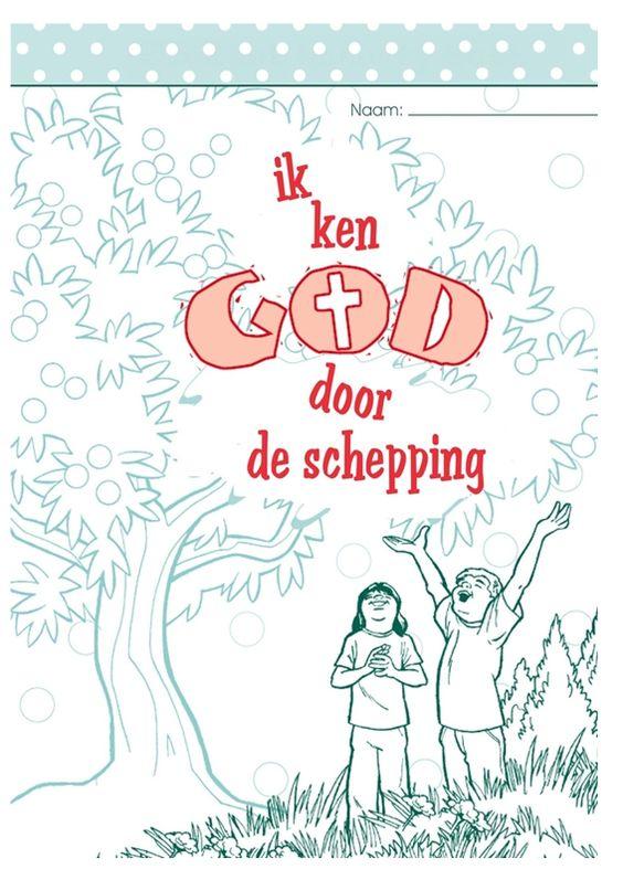 Kleurboekje bij de schepping, verwerking bij de Bijbelvertelling met kleuters, kleuteridee.nl