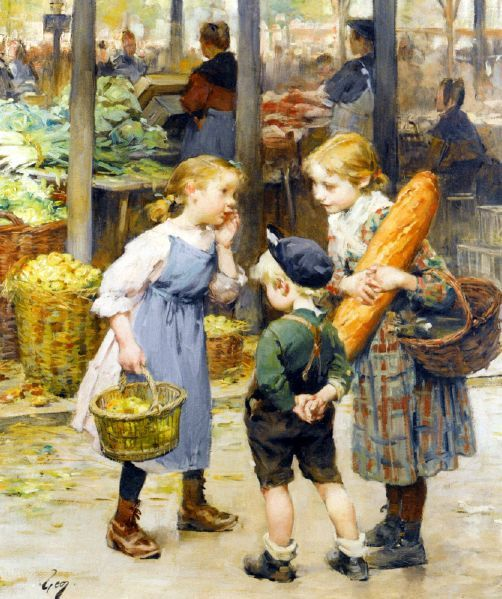 ... by Henry Jules Jean Geoffroy 1853 – 1924  French