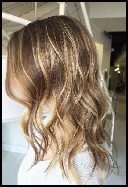Haar in braune strähnen blondem 40 auffällige