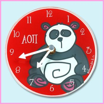 Alpha Omicron Pi Clock. Because we live in AOII time