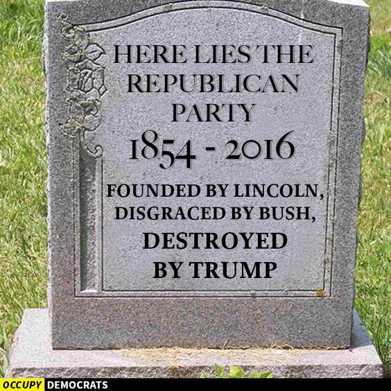 Image result for RIP GOP
