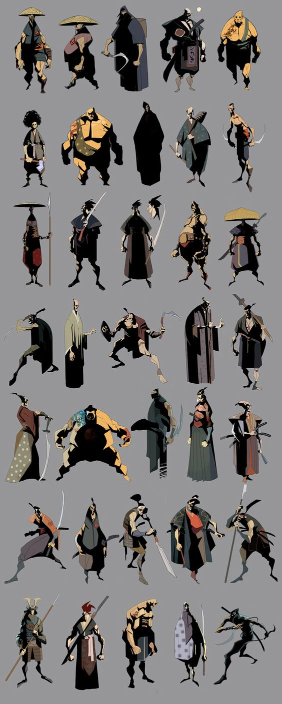 Character Design Concept : Samurai concepts and other characters character design