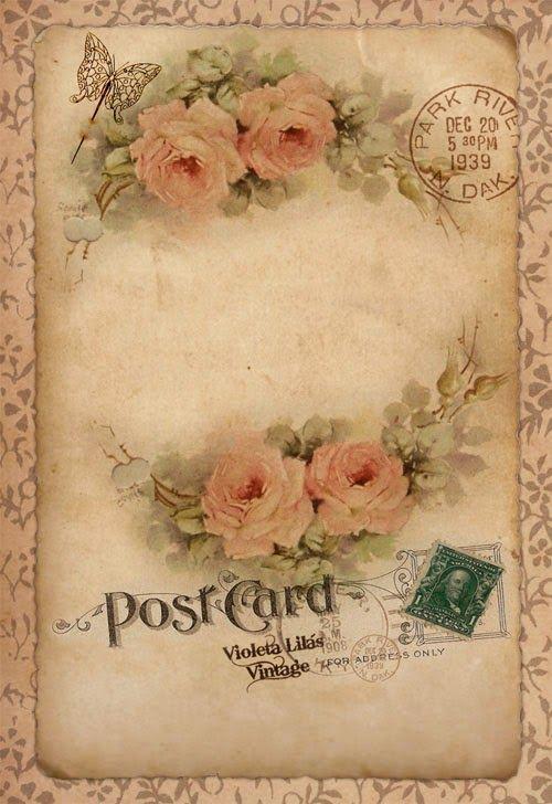 Violeta lilás Vintage: Cartão Namorados Vintage - Série Flores