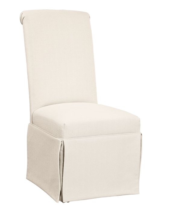 clean looking andorra dining chair skirted parsons