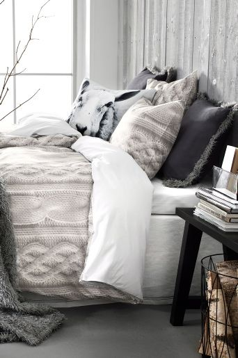 Love the knitted blanket, and the pillows >not so much the pillows. But love the blanket!