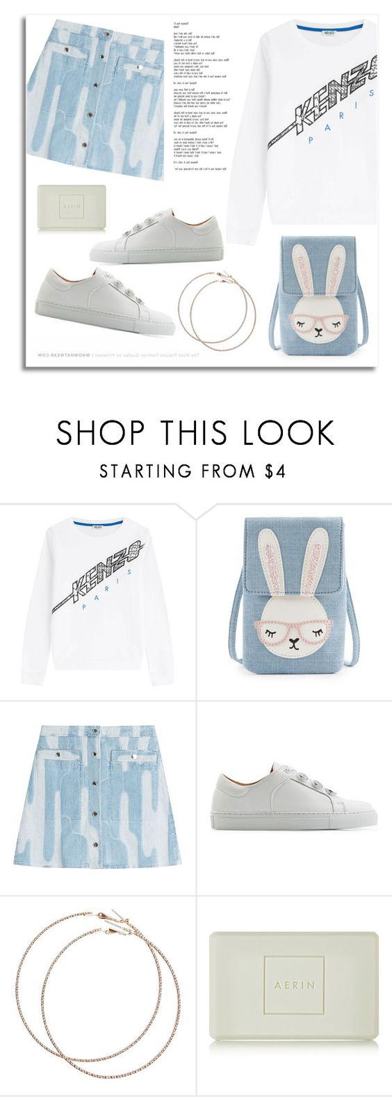 """""""Untitled #1065"""" by soleuza ❤ liked on Polyvore featuring Kenzo, Carven, Wet Seal and AERIN"""