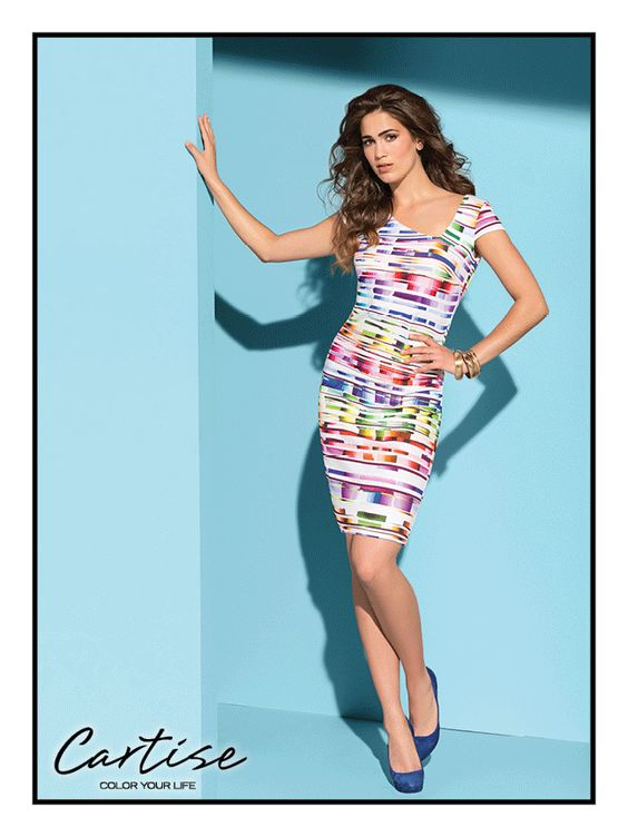 Sleeveless print dress / style 510022 #springfashion #summerfashion #musthave #Cartise #women #apparel #coloryourlife www.cartise.ca