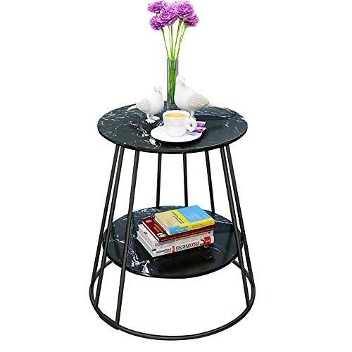 Zhirong 2 Tier Marble Side Table Living Room Round Corner Table Coffee Table Bedroom Be Marble Side Table Living Room Living Room Side Table Marble Side Tables