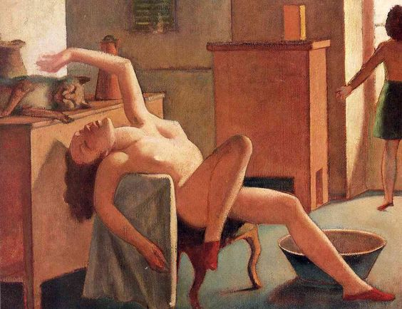 Balthus, Nude with a Cat,  1949: