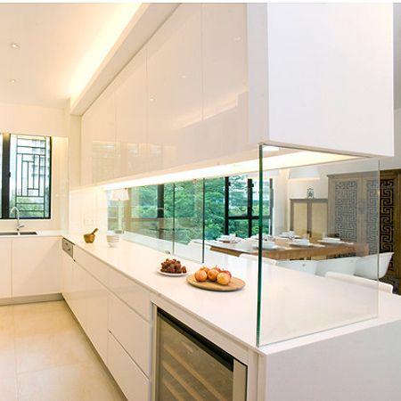 Closing off an open plan kitchen or semi open plan kitchen for Kitchen ideas open plan