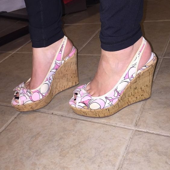 Authentic - Coach Wedges - Multicolored Beautiful. Never worn. Wedges . Multicolored . BEAUTIFUL Coach Shoes