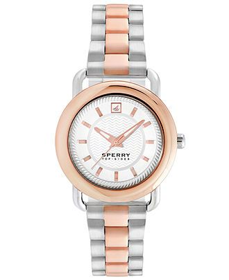 Sperry Top-Sider Watch, Women's Hayden Two-Tone Stainless Steel Bracelet 36mm 102050 - All Watches - Jewelry & Watches - Macy's