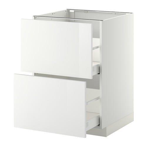Metod Maximera Elt Bas 2 Faces 2 Tiroirs Hauts Blanc Ringhult Blanc 60x60 Cm Ikea Meuble Bas Meuble Bas Cuisine Caisson Bas Cuisine