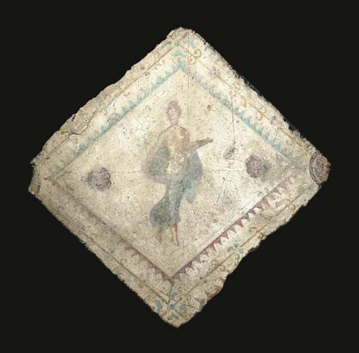 A ROMAN WALL-PAINTING FRAGMENT CIRCA 50-75 A.D.