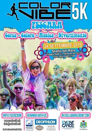 A Pescara torna Color Vibe 5k Run la corsa dei colori